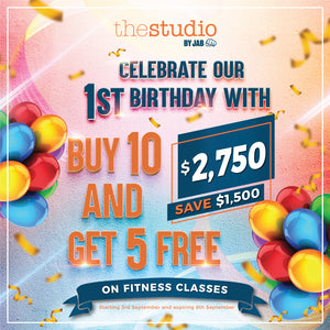 First Birthday Promo -  Buy 10 and Get 5 Free