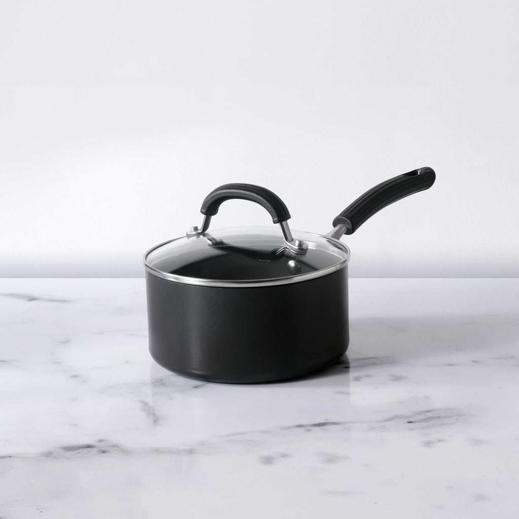 Origins Non-Stick + Hard Anodized Saucepan 16cm, Grey (Suitable For Gas & Induction)