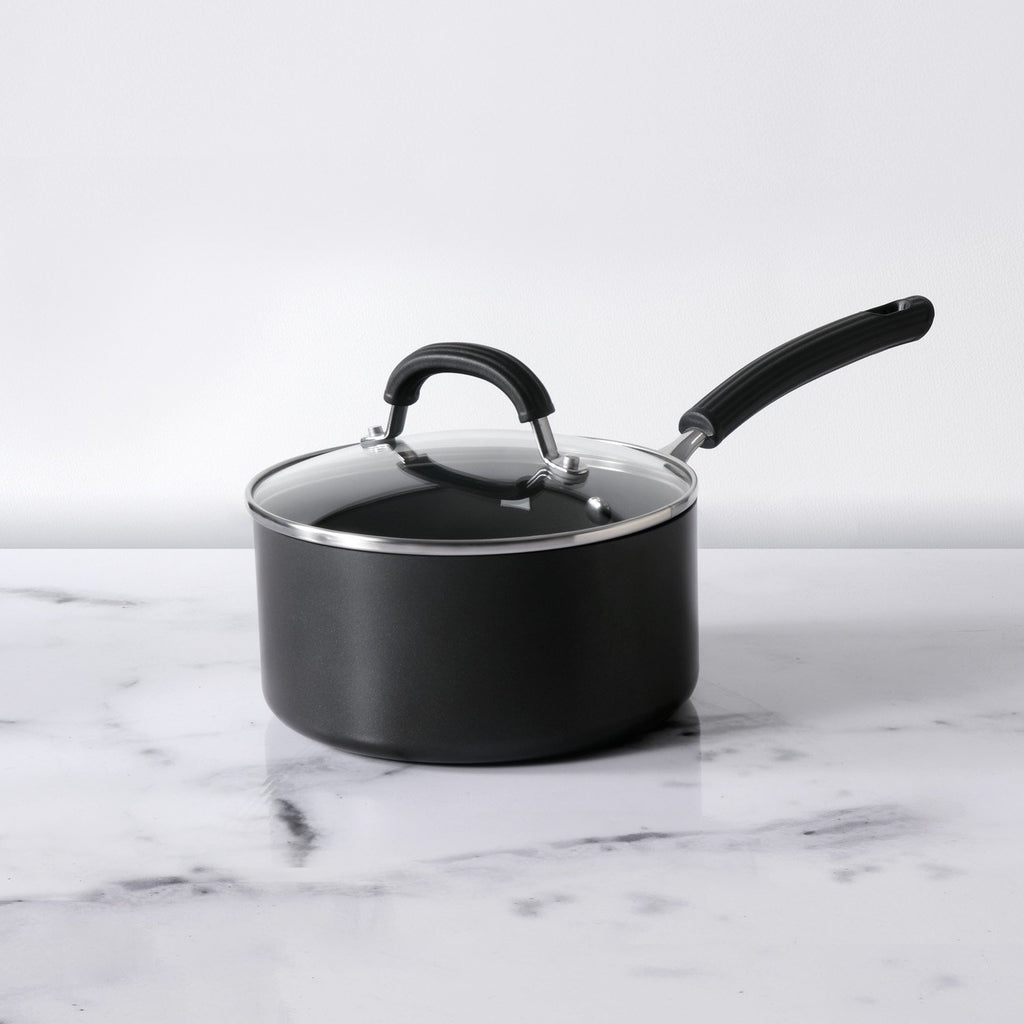 Origins Non-Stick + Hard Anodized Saucepan 20cm, Grey (Suitable For Gas & Induction)