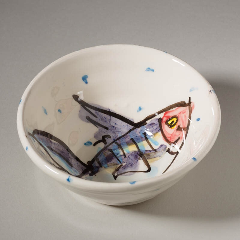 'Mackerel' Bowl - small - Charlie Mahon Pottery