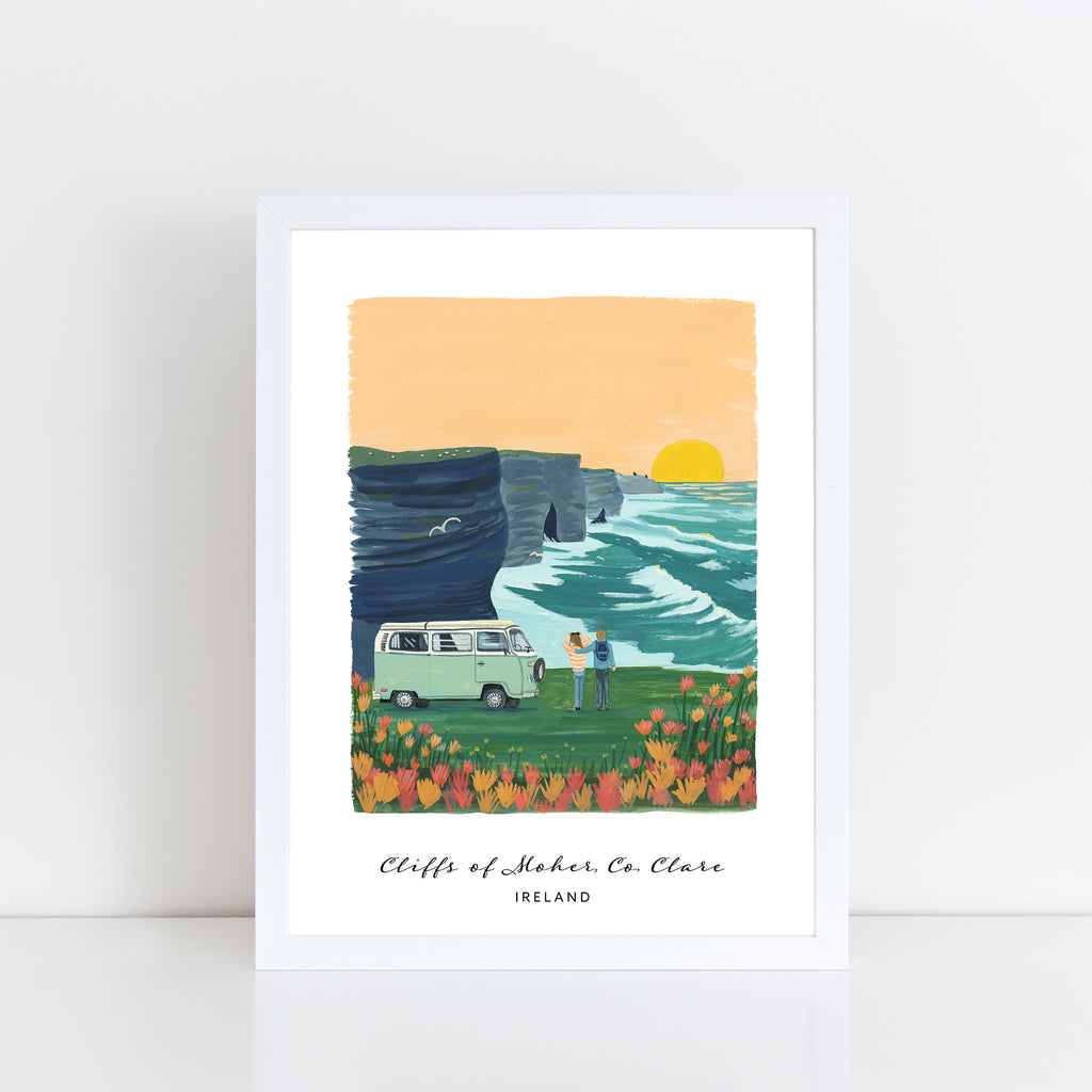 Cliffs of Moher Roadtrip Print - Hairy Fruit Art