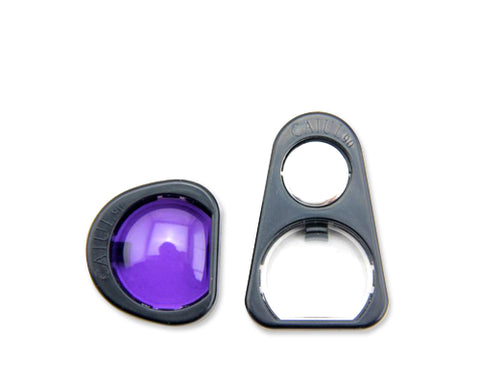 Selfie Photo Lens Frame with Mirror for Instax Mini 90 - Purple