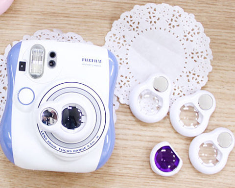 Selfie Photo Lens Frame with Mirror For Instax Mini 25 - White