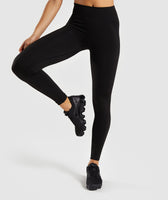 Gymshark Flex High Waisted Leggings - Black/Charcoal 7
