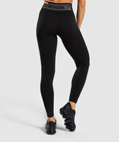Gymshark Flex High Waisted Leggings - Black/Charcoal 8