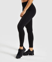 Gymshark Flex High Waisted Leggings - Black/Charcoal 9