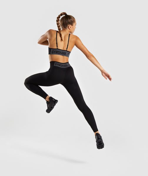Gymshark Flex High Waisted Leggings - Black/Charcoal 3