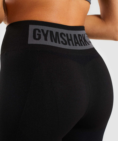 Gymshark Flex High Waisted Leggings - Black/Charcoal 4