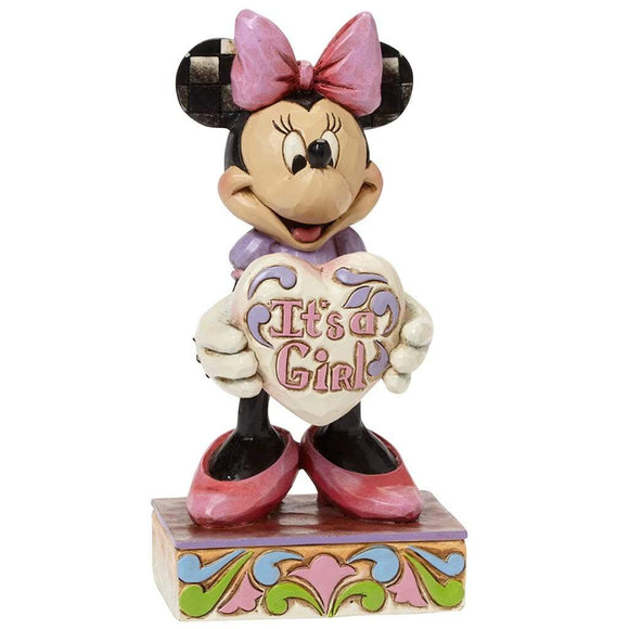 Disney Traditions by Jim Shore It's A Girl - Minnie Mouse Figurine - Website Exclusive