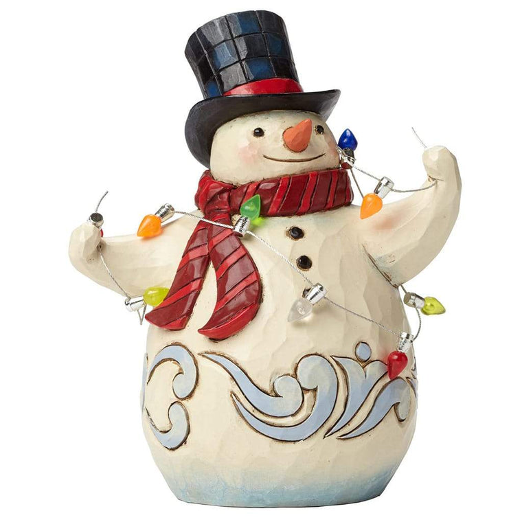 Heartwood Creek by Jim Shore Snowman Wrapped Figurine - Website Exclusive