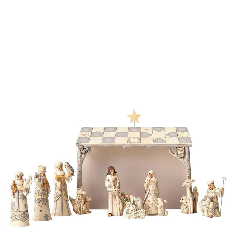 Heartwood Creek by Jim Shore White Woodland Nativity (8 Piece Set) - Website Exclusive