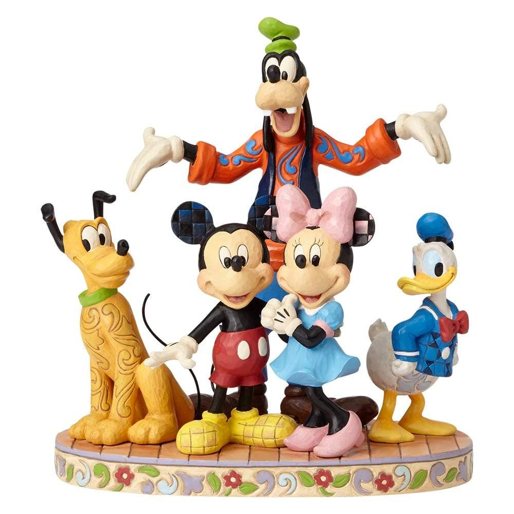 Disney Traditions by Jim Shore The Gangs All Here - Fab Five Figurine - UK & EIRE WEBSITE EXCLUSIVE