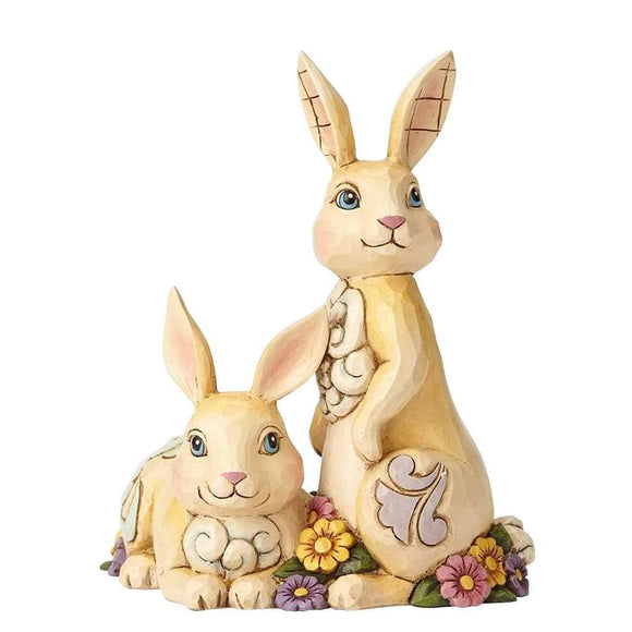 Heartwood Creek by Jim Shore Double Bunnies Figurine - Website Exclusive