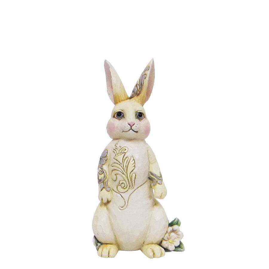 Heartwood Creek by Jim Shore White Woodland Bunny Mini Figurine - Website Exclusive
