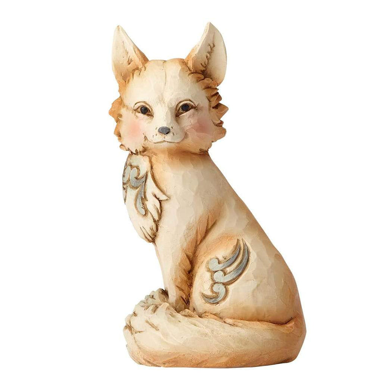 Heartwood Creek by Jim Shore White Woodland Fox Mini Figurine - Website Exclusive