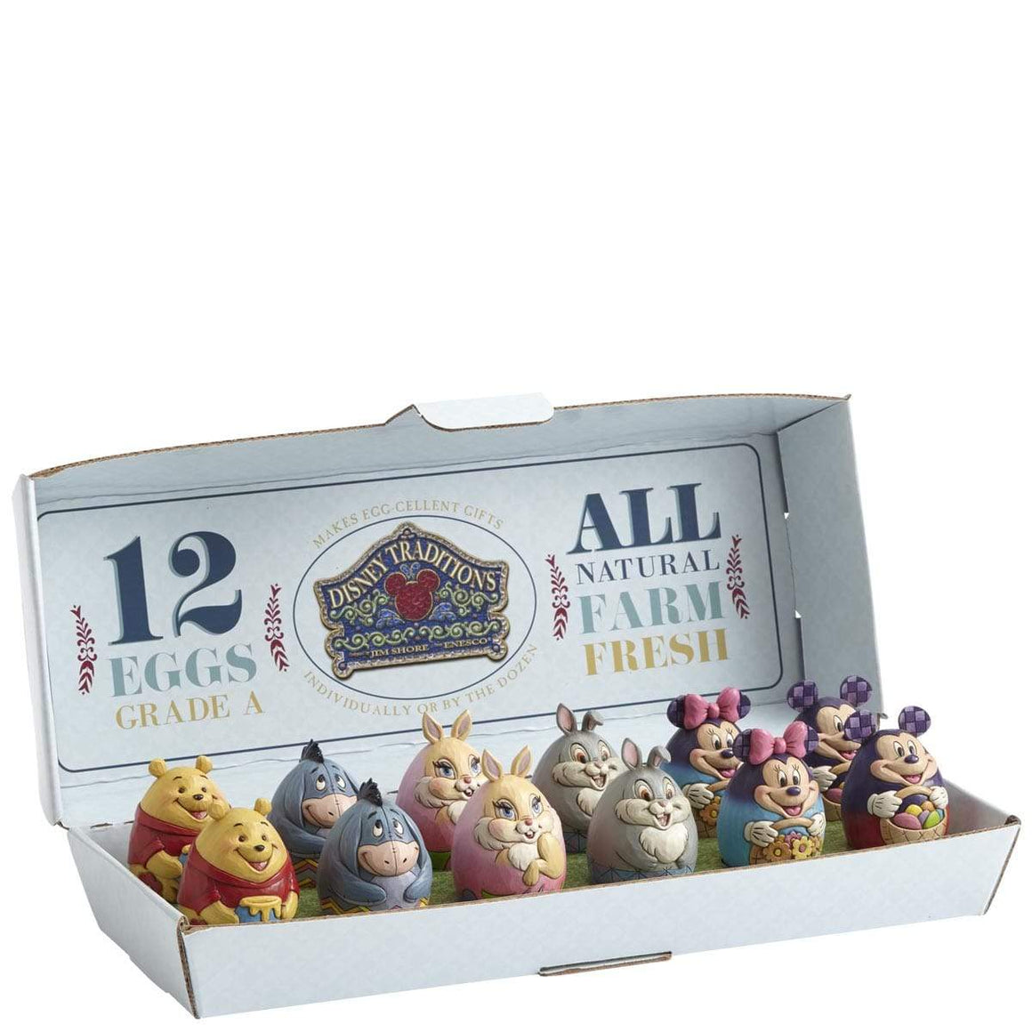 Disney Traditions by Jim Shore Character Eggs (Pack of 12, 6 characters)