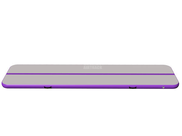 Factory outdoor games airtrackus gray surface purple side air mat for tumbling