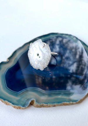 Eye Of Nature Ring/ Achat 925 Silber