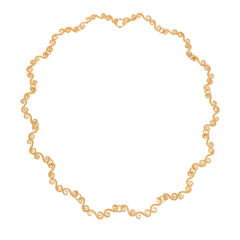 Gold swirly elegant choker necklace