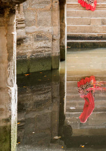 Red Sari at the Loti ni Vav stepwell