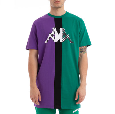 Kappa Authentic Baliq Violet Green Black T-Shirt