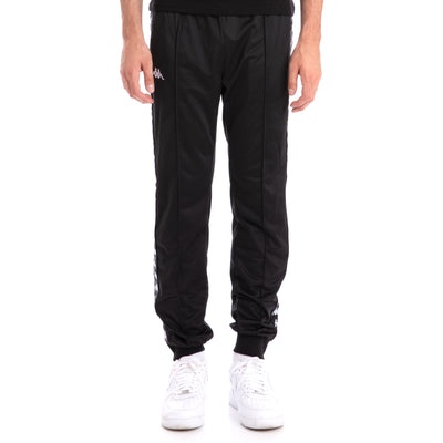 Kappa 222 Banda Rastoriazz Black Black Trackpants