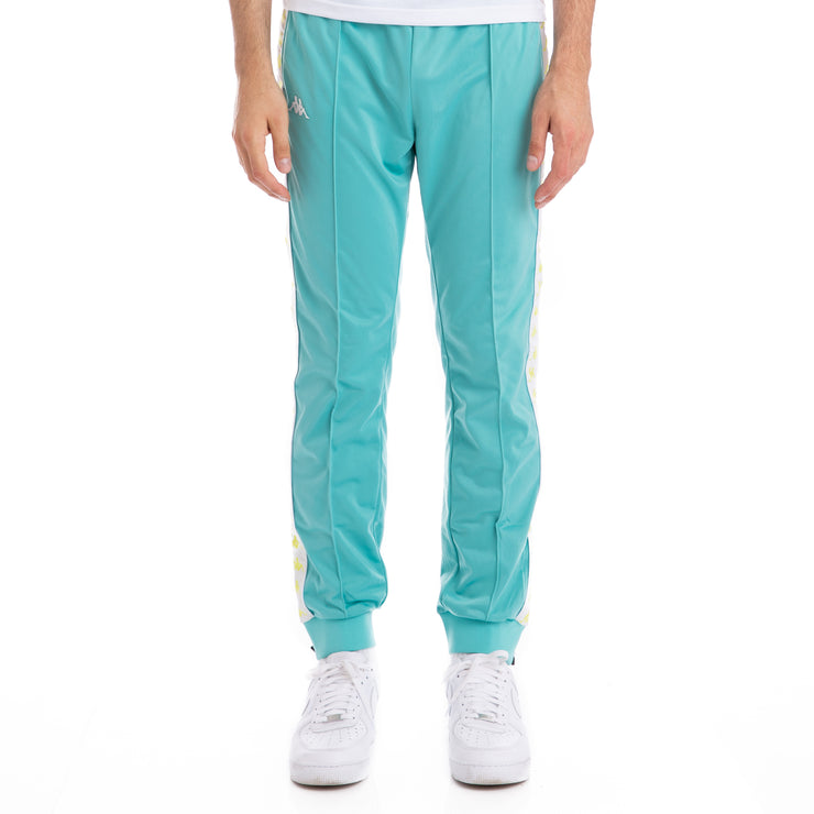 Kappa 222 Banda Rastoriazz Green Lt White Trackpants