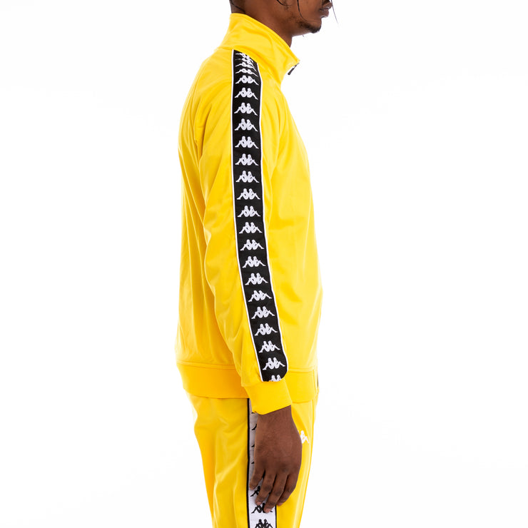 222 Banda Anniston Alternating Banda Yellow Black White Track Jacket