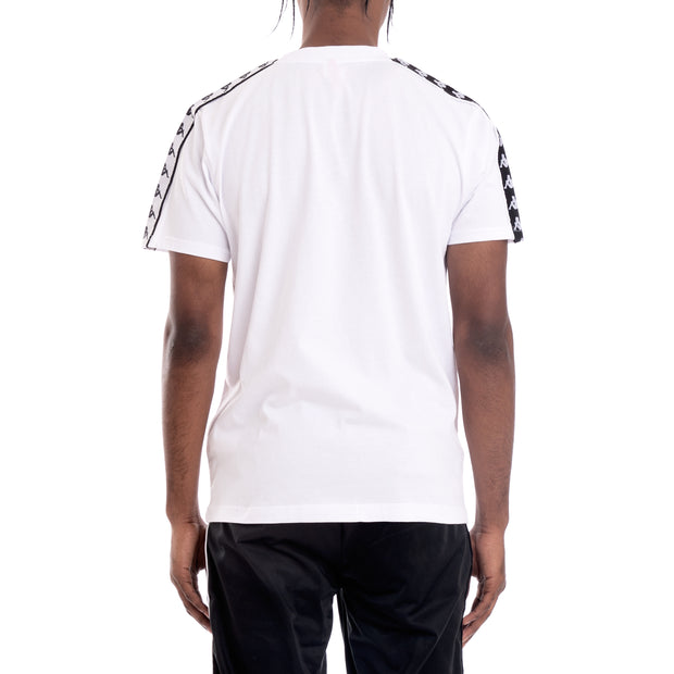 Kappa 222 Banda Charlton Alternating Banda White Black T-Shirt
