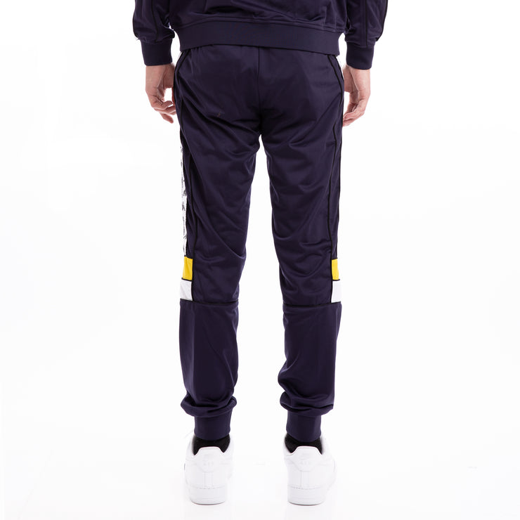 Kappa 222 Banda Memzz Blue Marine Yellow White Trackpants