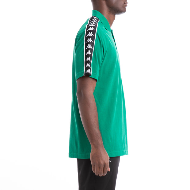 Kappa 222 Banda Calsi Alternating Banda Green Black White Polo