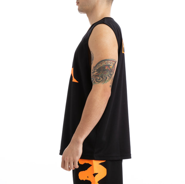 Kappa Kalcio Wreathy Black Orange Mesh Jersey