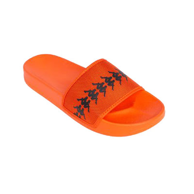 Kappa 222 Banda Adam 12 Orange Flame Black Slides