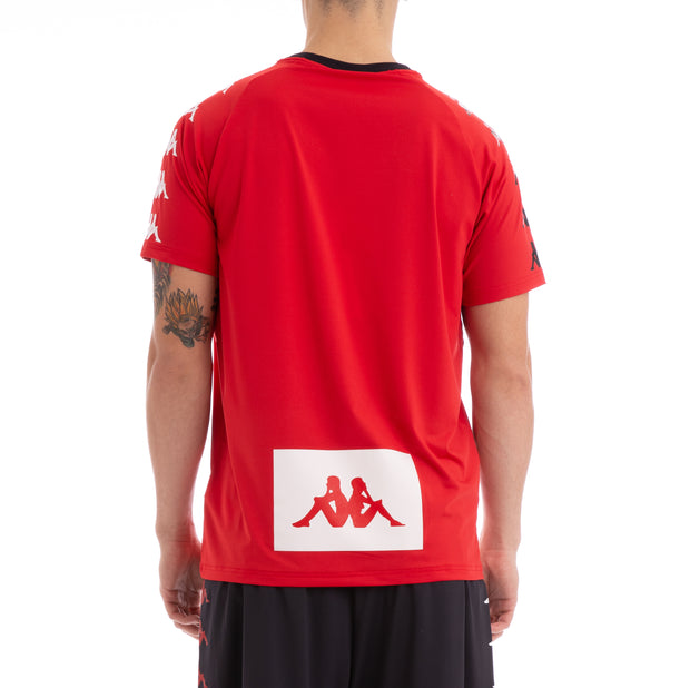 Kappa Authentic Bastil Red Black T-Shirt