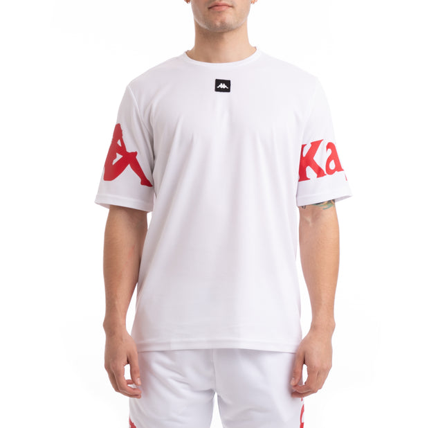 Kappa Kalcio Boloxi White Red Mesh T-Shirt