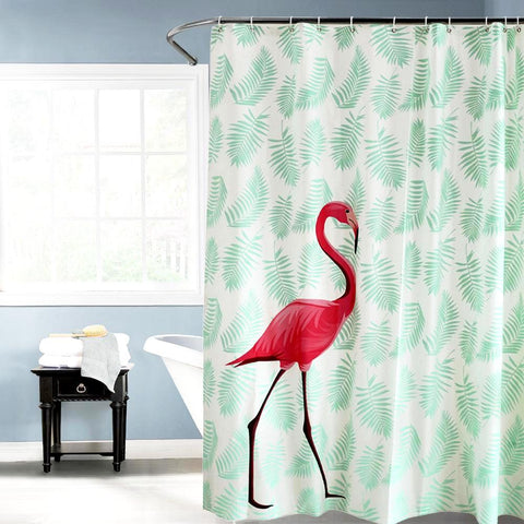 Rideau de douche flamand rose