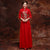 Phoenix Sequins Lace Cheongsam Top Chinese Wedding Dress