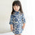 Knee Length 100% Cotton Floral Kid's Cheongsam Dress