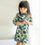 3/4  Sleeve 100% Cotton Floral Kid's Cheongsam Dress