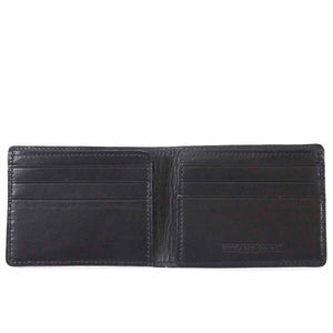 Ultra-Slim Nappa Leather Wallet with black color