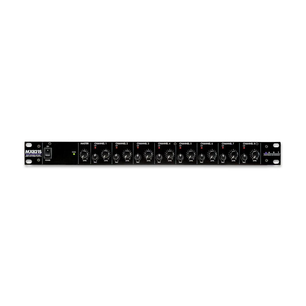 ART MX821S Eight Channel Mic/Line Mixer with Stereo Outputs