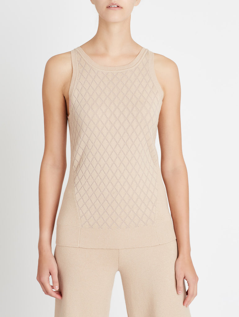LUREX SLEEVELESS KNIT, BLUSH