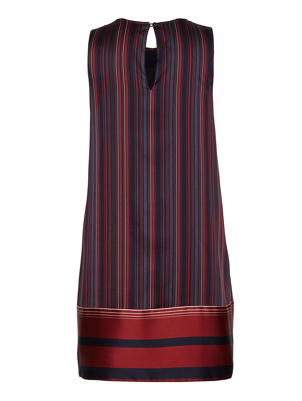 SILK STRIPE SHIFT DRESS
