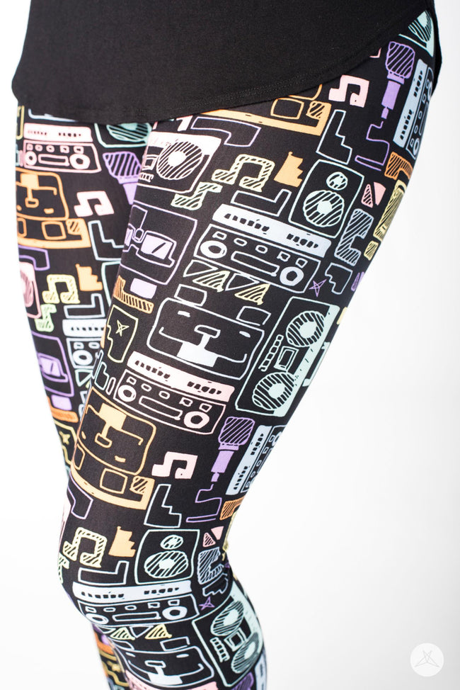 Sound Bytes Petite leggings - SweetLegs