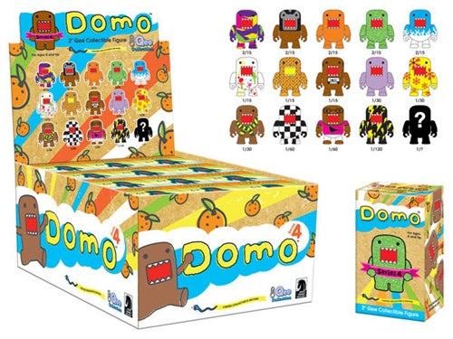 "OPEN BOX Toy2R Domo S4 Qee : 2"" Snowflake mini figure 1/30 (complete with all original packaging) - moosedinky"