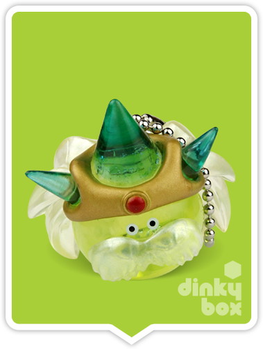 "OPEN BOX Square-Enix Dragon Quest Crystral Monsters 10 : 1"" Grandpa Slime Mascot Charm (complete with all original packaging) - moosedinky"
