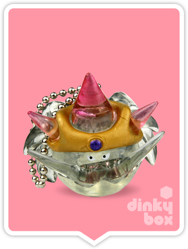 "OPEN BOX Square-Enix Dragon Quest Crystral Monsters 10 : 1"" Metal Kaiser Slime Mascot Charm (complete with all original packaging) - moosedinky"