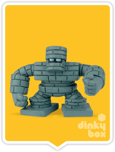 "OPEN BOX Square-Enix Dragon Quest Stacking Slime : 1"" Grey Golem Mascot Charm (complete with all original packaging) - moosedinky"