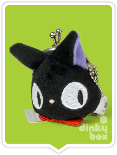 "LOOSE COIN PURSE Sun Arrow x Studio Ghibli : 3"" Studio Ghibli Kiki's Delivery Service JiJi, very cute and ideal for your loose change + a coin or two for luck :) - moosedinky"