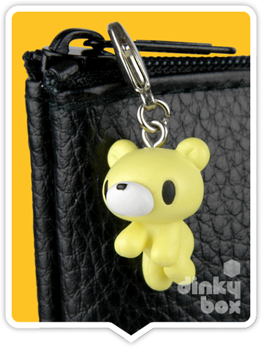 "OPEN BOX Kidrobot Gloomy Bear : 1"" Baby Yellow Gloomy zipper pull 1/30 (complete with all original packaging) - moosedinky"